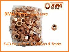 BMW (SET OF 100) E10 E28 E36 E90 Copper Lock Nut 10mm Exhaust Flange 18301737774
