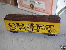 Vintage Oo Scale Wood Swift Premium Ham Boxcar Look