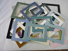 """9""""x7""""  Photo Mounts pack of 5 assorted colours"""