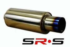 "TYPE R1 UNIVERSAL STAINLESS STEEL BURN TIP MUFFLER 3"" PIPE 4.5"" BURN TIP"