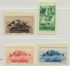 Syria Sc. 374 - 377 Tel-Chehab Waterfall Crusaders' Fort 1953 MH Imperforate
