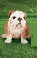 Large Adorable and Realistic Adult Size Bulldog Garden Statue