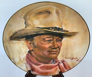 Vintage Collector's Plate JOHN WAYNE The Man of the Golden West 1979 COA Box