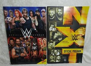 WWE and NWT Official Programs Book With 2016 John Cena Roman Reigns No Poster