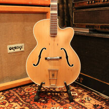 Vintage 1950s Hofner 457-S German Archtop Hollow Natural Acoustic Guitar 455 456