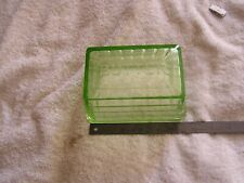 Vintage Green Depression Glass  Covered Butter Dish