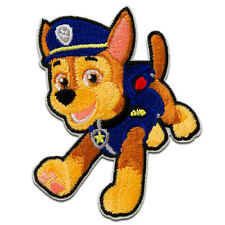 Application Embroided badge pink Iron on patches 7x4,9cm Paw Patrol Skye