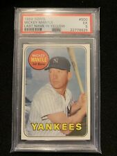 1969 Topps #500 Mickey MANTLE PSA 5 YANKEES HOF