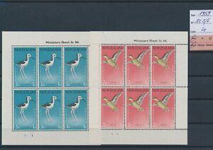 LN24403 New Zealand 1959 birds animals sheets MNH cv 40 EUR