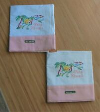 2 VINTAGE EMBROIDERED ALOHA HAWAII SOUVENIR PILLOW CASES NEVER USED