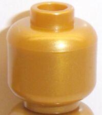 lego plain head x 1 perlgold für minifigur