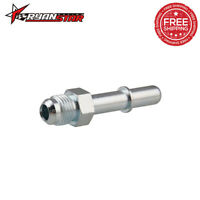 """640940 EFI Fuel Fitting -6 AN Male To 3/8"""" SAE Push On Quick Disconnect Silver"""