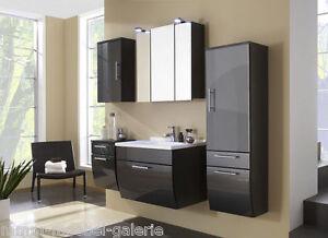 Design Badezimmer Badmöbel Badezimmermöbel Waschtisch Hochglanzfront 5tlg.  NEU