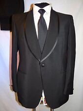 D' AVENZA ROMA-ITALY VTG HAND TAILORED SHAWL COLLAR TUXEDO SUIT UK 40 EU 50