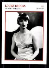 Louise Brooks Star Portrait mapa - 80er años top + G 22399