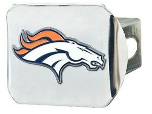 Fanmats NFL Denver Broncos 3D Color on Chrome Metal Hitch Cover Del. 2-4 Days