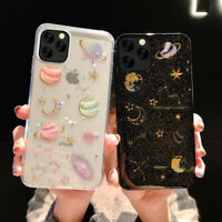 For iPhone 11 Pro Max XR X 8 7 Luxury Bling Planet Pattern Slim Soft Case Cover