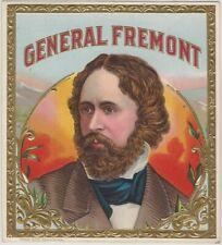 Vintage 1900s General Fremont Embossed Cigar Label