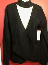 CLOTH BY RD Women's Acrylic/Cotton L/S Wrap Sweater - Size XS - NWT