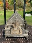 Wonderful Sterling Silver T100 Marked Shrine or Altar with Ganesha Statue