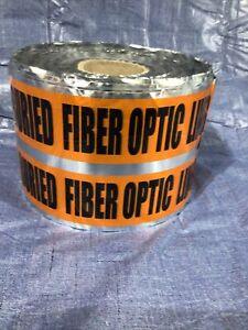"3M Scotch 409 Barricade Tape Caution: Buried Fiber Optic Line Below  6""x1000'"