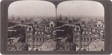 Panorama de Paris Tour Eiffel Photo Stereo Stereoview Vintage