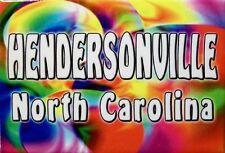 Hendersonville North Carolina Tye Die Fridge Magnet