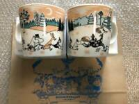Moomin Mug Cup 2 set Arabia Moomin Valley Park Limited 2019 NEW from JP