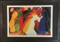 "Bernard Stanley Hoyes Pencil Signed Litho: ""Dancing for the Lord"""