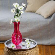 10  x Blumenvase rot faltbar Folie Kunststoff  Faltvase Tischvase