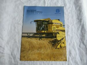 1996 New Holland tr98 tr88 small grain combine brochure