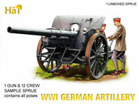 HaT 8109 WWI German Artillery & Limber 1/72 Model kit 1 SPRUE 1 GUN+LIMBER+CREW