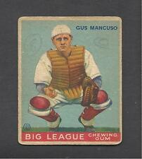 1933 Goudey Baseball # 41 Gus Mancuso New York Giants