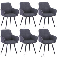2er Set Esszimmerstuhl Wohnzimmer Küchenstühle Kunstleder Stuhl Büro stühle Grau