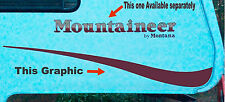 MOUNTAINEER RV Swoop Graphic Flair decal 5th Wheel you get both sides