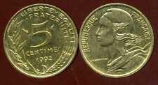 5 centimes 1992   MARIANNE    4 plis  SUP +