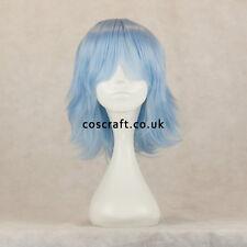 Película de medio Juegos con disfraces Disfraz Peluca en azul de bebé, vendedor del Reino Unido, estilo ceniza