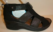 Bzees Size 6.5 M DUET Black Fabric Wedge Sandals New Womens Shoes