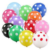5~100PCS Round 12'' Polka Dot Balloon Birthday Wedding Festival Party Decoration
