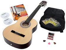7/8 Akustikgitarre Konzertgitarre Klassikgitarre Set Tasche Pleks Schule DVD