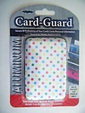 Aluminum Card Guard Secure RFID Blocking Credit Card Holder White & Multi New