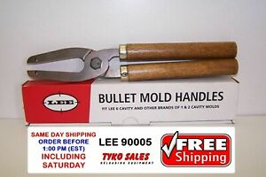 LEE 90005 * LEE 6 CAVITY MOLD HANDLES * FITS 2-CAVITY RCBS, LYMAN AND OTHERS