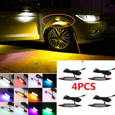 4x Multi- Color RGB Ambient Light Car Fender Wheel Eyebrow LED Light Tire Light