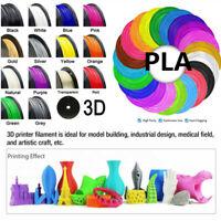 1/10PCS PLA 3D-Printer Filament rigido Colorful 1.75mm 10m/100m
