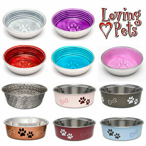 Dog Bowls Loving Pets Le Bol / Bella / Diamond Plate Stainless Steel Non-Slip