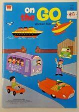 Vintage Whitman ON THE GO Sticker Fun Book 1974 UNUSED Sticker Book