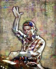 Avicii Tribute 12x18in Poster,  Avicii DJ Tribute Tim Bergling Free Shipping US
