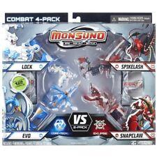 Monsuno Serie 1 - 4 Core Combat Pack with Lock  01, Evo  09, Spikelash  08, Snap