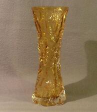 70er Jahre Glas-Vase, Rock-Kristall, Ingridhütte -  26 cm hoch (3)