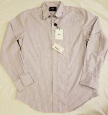 Dolce Gabbana D&G Mens Purple Striped Button Shirt MSRP $1200 NWT Size Large L/S